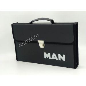 Папка для водителей черная с логотипом MAN