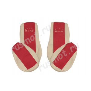 Чехлы Премиум для DAF 105 106 от 2012 бежево-красные