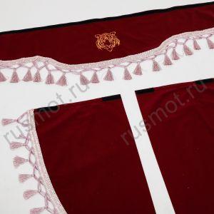 Ламбрекены универсальные с логотипом ТИГР бордовые