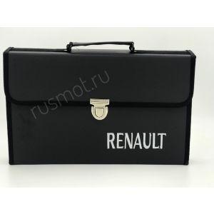 Папка для водителей черная с логотипом RENAULT