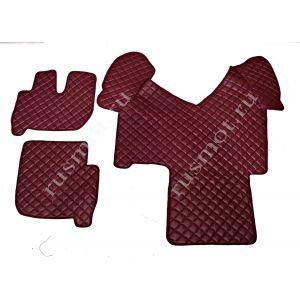 Коврик из искусственной кожи IVECO до 2012г автомат бордовый(Польша)