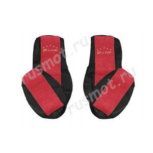 Чехлы Премиум для DAF 105 106 от 2012 черно-красные