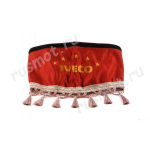 Шторы для IVECO красные
