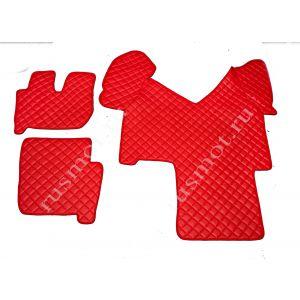 Коврик из искусственной кожи IVECO до 2012г автомат красный (Польша)