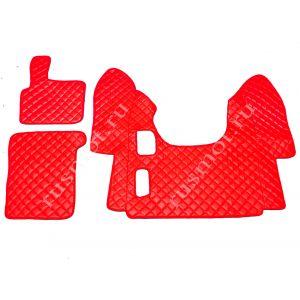 Коврик из искусственной  кожи DAF XF 95 механика красный (Польша)