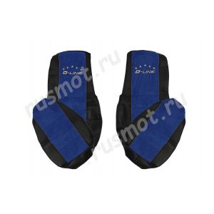 Чехлы Премиум для DAF 105 106 от 2012 черно-синие
