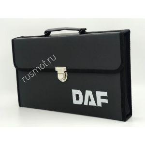 Папка для водителей черная с логотипом DAF