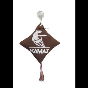 Вымпел подушка  KAMAZ коричневый