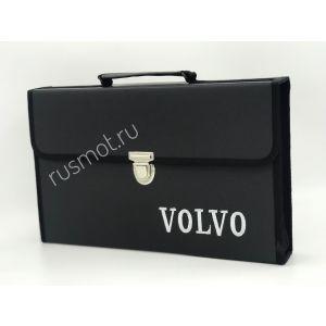 Папка для водителей черная с логотипом VOLVO