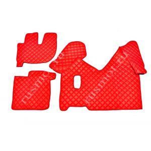 Коврик из искусственной кожи IVECO от 2013г механика красный(Польша)
