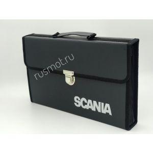 Папка для водителей черная с логотипом SCANIA