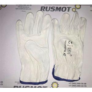 Перчатки рабочие кожа  Польша белые