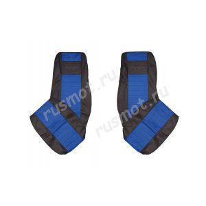 Чехлы Жаккард для DAF XF105 CF новый с 2012г синие