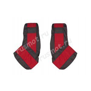 Чехлы Жаккард для DAF XF105 CF новый с 2012г красные