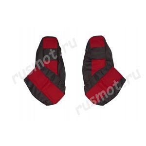 Чехлы Жаккард для DAF XF95 CF красные