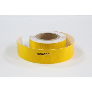 Лента светоотражающая Призма Люкс 50м желтая