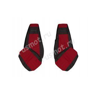 Чехлы Жаккард для Scania R 2004-2009 красные