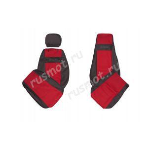Чехлы Жаккард для Scania R L SC R420 2004-2009 г красные