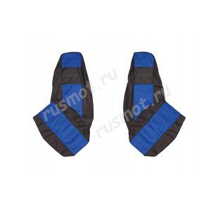 Чехлы Жаккард для DAF XF105 CF IV LF синие