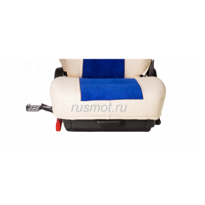 Чехлы Премиум для DAF 105 106 от 2012 бежево-синие