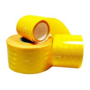 Лента светоотражающая алмазная 20м желтая