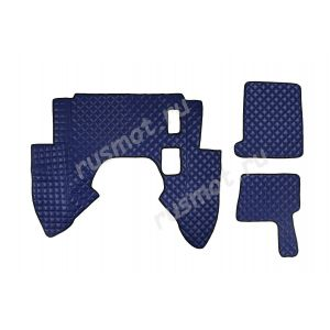 Коврик из искусственной  кожи DAF XF 95 механика синий (Польша)