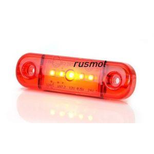 Боковой габаритный фонарь светодиодный красный W97.2.